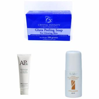Harga Personal Hygiene Set (AP24 Toothpaste, Scion Deodorant, Crystal Infinity Gluta Soap)