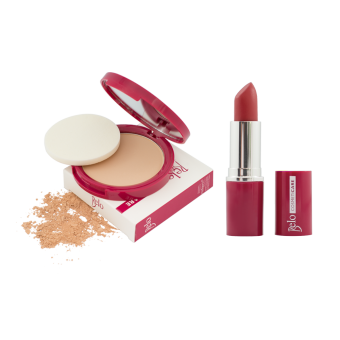 Harga Belo Cosmeticare Face Powder (Natural) with Lipstick (Rose)