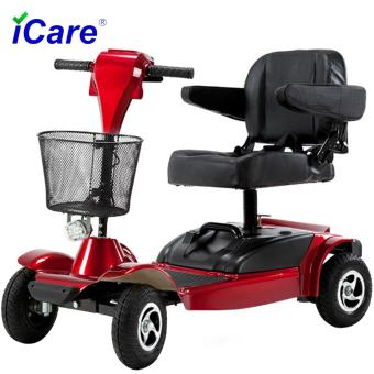 Harga iCare®E380 Compact Travel Electric Power Scooter, 4 Wheel (Red)