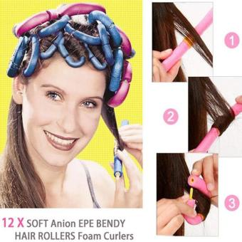 12 Pcs Hair Curly Roller Self-adhesive Curly Sponge - intl Price Philippines