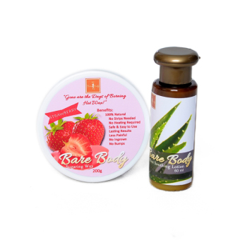 Bare Body Ph Sugar Paste Hair Removal 200g (Strawberry) with Aloe Soothing Lotion 60ml Price Philippines