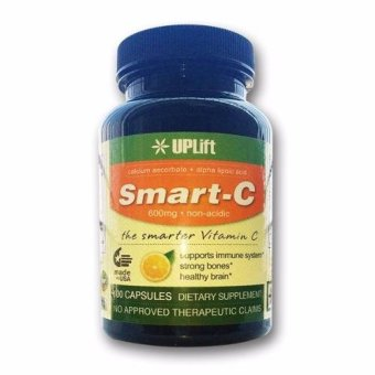 Uplift Smart-C Best Non-Acidic Vitamin C with Alpha Lipoic Acid ALA 600mg (Bottle of 100 Capsules) Price Philippines