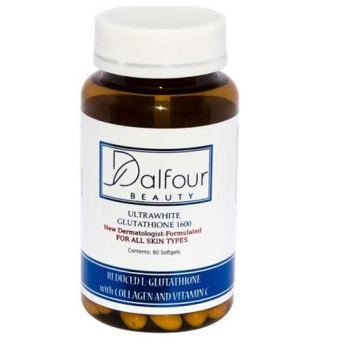 Dalfour Beauty Ultrawhite Glutathione Whitening Capsules with Collagen & Vitamin C - 2400mg/serving With 1600mg Glutathione Price Philippines