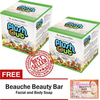 Harga Flush Out Colon Cleanse Prebiotics & Probiotics Sets of 2 with FREE Beauche Beauty Bar