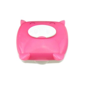 Harga Cute Pig Cartoon Contact Lens Case Companion Box Contact Lenses Box - intl
