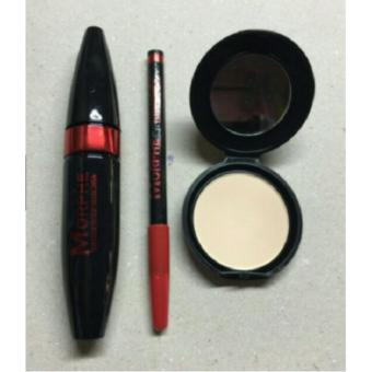 OEM 3in1 Set Thick Mascara Waterproof Eyebrow Silky Powder Price Philippines