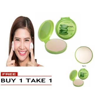 Soothing & Moisturizing 99% Aloe Vera Pressed Powder Foundation Makeup #2 49g BUY 1 TAKE 1 Price Philippines