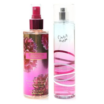 Harga Queen Secret Blossoming Romance Body Mist 250ml with Queen's Secret Carried Away Fine Fragrance Mist 236ml Bundle
