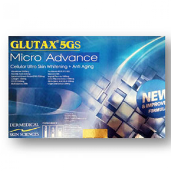 Authentic GLUTAX 5GS MICRO ADVANCE IV-Glutathione Skin Whitening Anti-aging (NEW IMPROVED FORMULA) Price Philippines