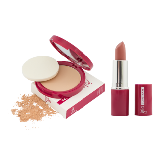 Harga Belo Cosmeticare Face Powder (Natural) with Lipstick (Warm Nude)