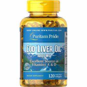 Harga Puritan's Pride Cod Liver Oil 1000 mg, 120 Softgels