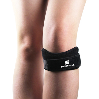 Harga Professional Patella Strap, air vent and cushioning knee pad,Knee strap,One size, Adjustable tightness, 1 PCS, Black - Intl