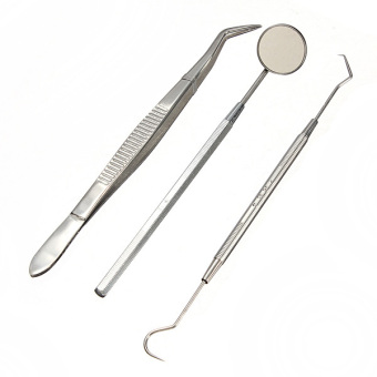 3PCS/1 Set Stainless Steel Dental Instruments Mouth Mirror Explorer Price Philippines