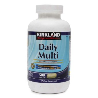 Harga Kirkland Daily Multi Vitamins and Minerals Tablet Bottle of 500