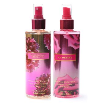 Harga Queen Secret Blossoming Romance Body Mist 250ml with Queen's Secret My Desire Body Mist 250ml Bundle