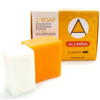 Set of 3 Boxes Alumina 2-Soap Advanced Whitening System (White/Orange) Price Philippines