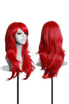 Bluelans Synthetic Hair Curly Wavy Full Wigs (Red) Price Philippines