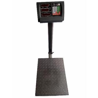 Harga 300kg HeavyDuty Commercial and Industrial Electronic Price Platform Scale (Black)