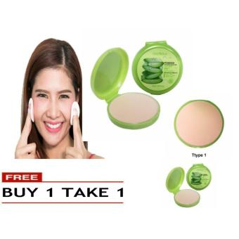 Soothing & Moisturizing 99% Aloe Vera Pressed Powder Foundation Makeup #1 49g BUY 1 TAKE 1 Price Philippines