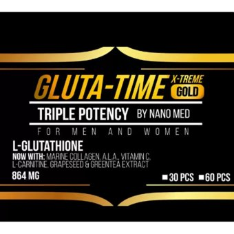 NEW GLUTA-TIME X-TREME GOLD NANO L-Glutathione 30 Caps by Nano Med (for Men and Women) Price Philippines