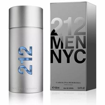 Harga Carolina Herrera 212 MEN NYC (US Tester) Eau De Toilette Perfume for Men 100ml