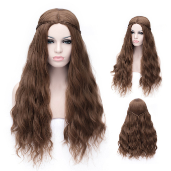Cosplay Wig Brown Little Curly Long Hair Wig - Intl Price Philippines