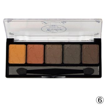 Harga 5 Color Plate Makeup Eye Shadow Blush Color Plate - intl