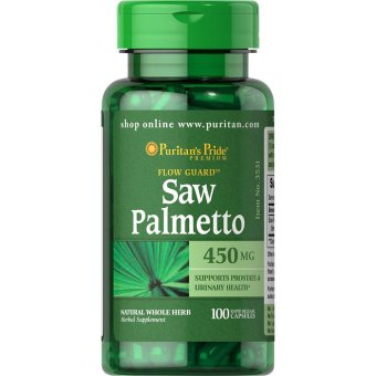 Harga Puritan's Pride Saw Palmetto 450mg, 100 Capsules
