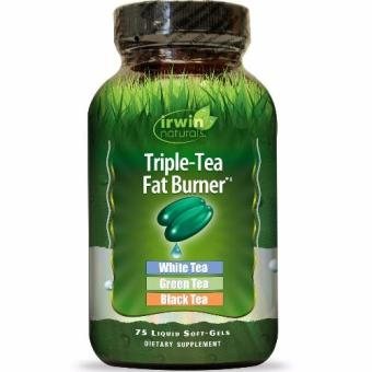 Harga Irwin Naturals Triple Tea Fat Burner with White, Green and Black tea extract Organic Weight-Loss Supplement Bottle of 75 Liquid Softgels