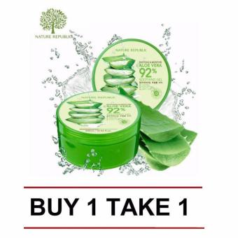 Nature Republic Soothing and Moisturizing Aloe Vera 92 Soothing Gel 300ml (Buy 1 Take 1) Price Philippines