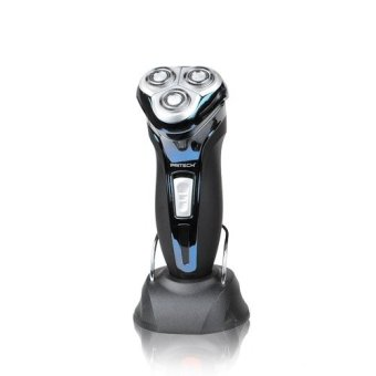 PRITECH RSM-1302 Fashion Design 220V Washable Rechargeable Razor 3 Heads Rotary Electric Shaver Face Care For Men Home Travel (Blue) Price Philippines