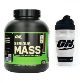Optimum Nutrition Serious Mass 6 lb (Chocolate) with Free Optimum Nutrition Shaker Bottle Price Philippines