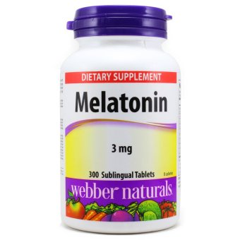 Harga Webber Naturals Melatonin 3 mg, 300 Tablets