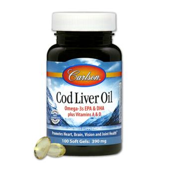 Harga Carlson Cod Liver Oil 390 mg 100 Softgels