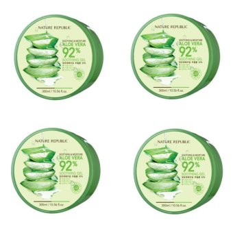 Nature Republic Soothing and Moisturizing Aloe Vera 92% Soothing Gel 300ml Set of 4 Price Philippines