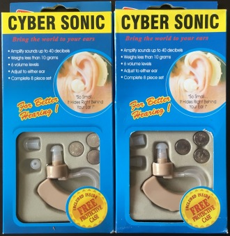 Harga 2 Sets of Cyber Sonic JH-11 Adjustable Hearing Assistance Aid Kit