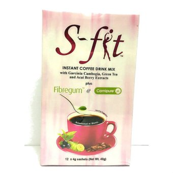 Harga S-Fit Instant Coffee Drink Mix 4g Sachet of 12