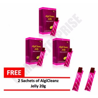 Harga AlgiCleanz Dietary Supplement Fat Blocker Slimming Jelly, Boxes of 3 with FREE 2 Sachets AlgiCleanz Jelly