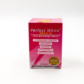 Harga Perfect white skin whitening tablets 30's