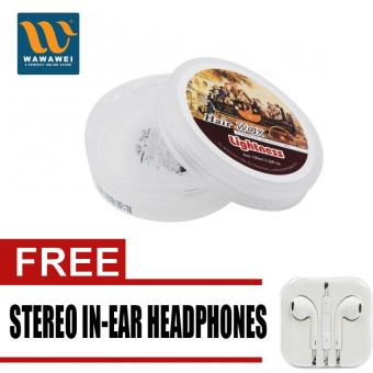Harga Lightness LI-1006 Hair Wax 100ML with free Stereo In-Ear Headphone (White)