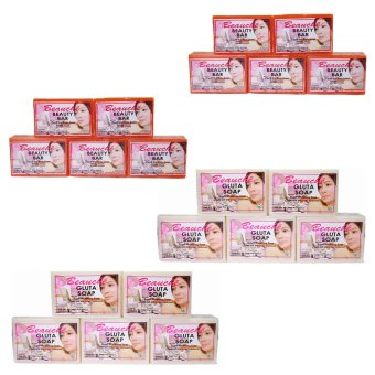 Harga Beauche Beauty Bar Soap 90g Set of 10 with 10 Gluta Soaps 90gms
