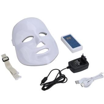 7 Colors Light Therapy Photon Facial Acne Wrinkle Remove Skin Rejuvenation Mask (EU Plug) - intl Price Philippines