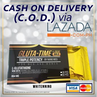 GLUTA-TIME X-TREME GOLD Premium Nanomized L-Glutathione 120 Capsules (16 boxes left) Price Philippines