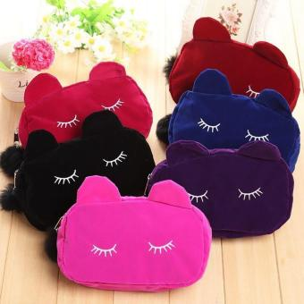 New 2017 Hong Kong Fashion Cutie Kitty Travel Make up Pouch (Purple) Price Philippines