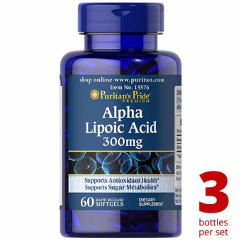 Puritan's Pride Alpha Lipoic Acid ALA 300mg 60 softgels Set of 3 Bottles Price Philippines