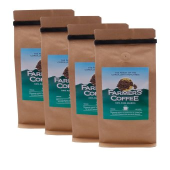 Harga Farmers' Coffee 100% Pure Arabica Ground 250 grams Pack of 4