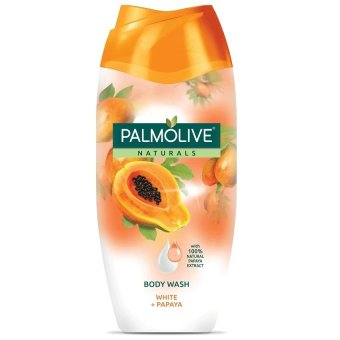 Harga Palmolive Naturals Body Wash WHITE + PAPAYA 200ml