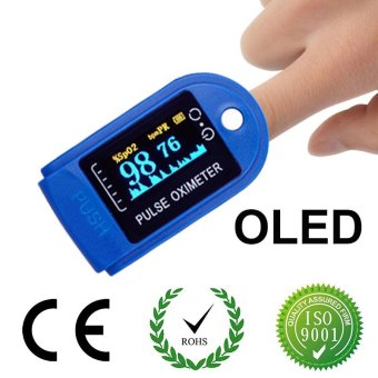 OLED Digital Finger Pulse Rate Oximeter Blood Oxygen Spo2 Oxymeter Saturation Pulsioximetro Fingertip Pulse Oximeters -(Blue) - intl Price Philippines