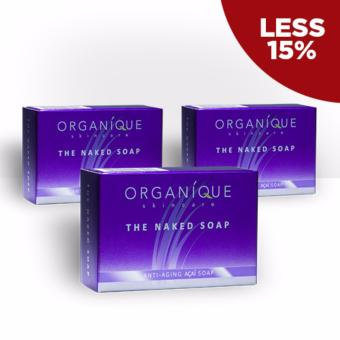 Harga Organique Skin Care The Naked Soap 90g Bundle of 3