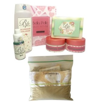 Harga Bella Pelle and Terrestrimin Best Seller Pack (Underarm Whitening Kit and Detox-Mineralizer Clay Powder)